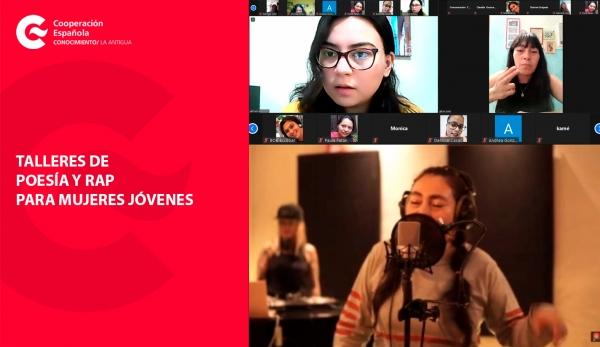 Taller de poesía y rap reúne a mujeres de Guatemala, México y Ecuador