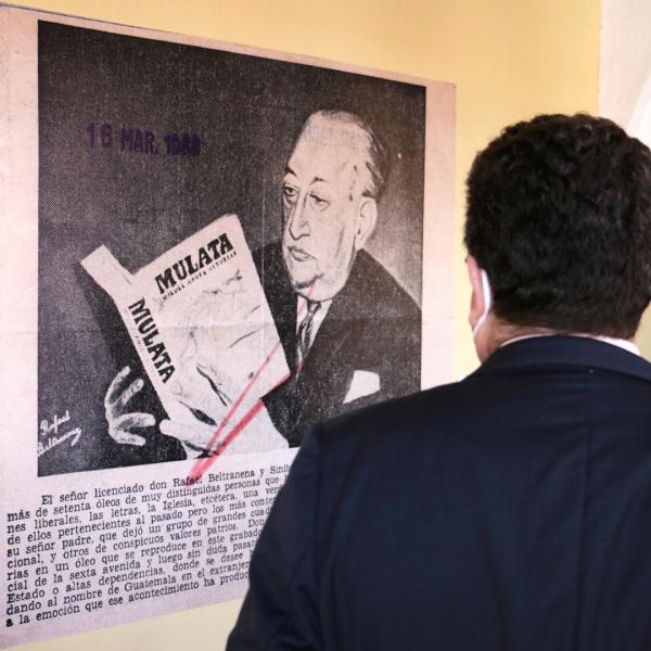 Exposición que conmemora a Miguel Ángel Asturias en el CFCE Antigua
